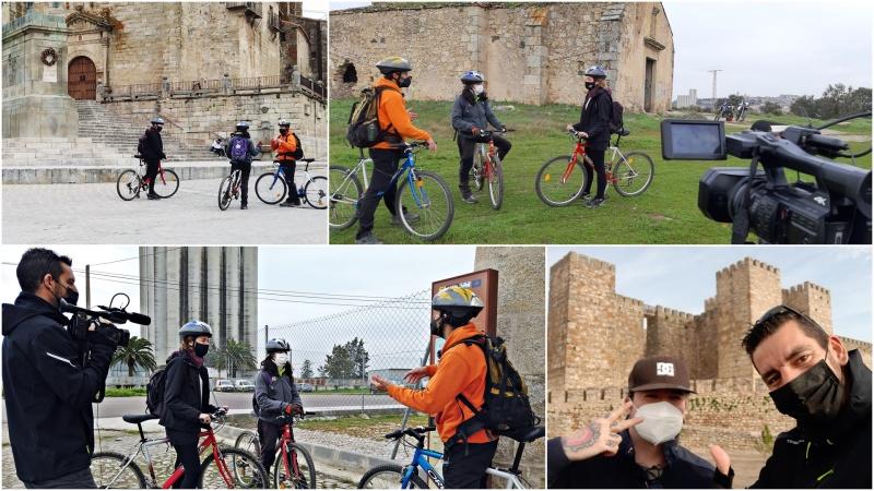 De rodaje en Trujillo para vídeo deruta