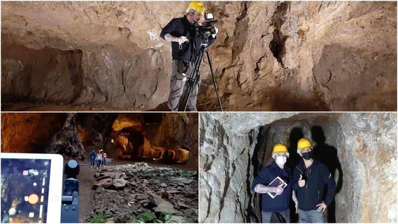 Filmando en la Mina de laJayona