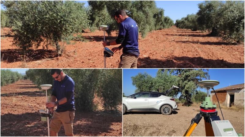 Realización de levantamiento topográfico con drones y apoyo GPS entierra